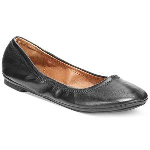 "Lucky Brand| Black ""Emmie"" Ballet Leather Flats"
